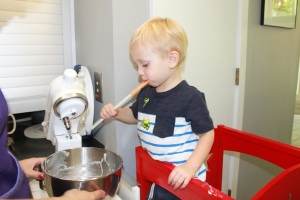 Max loves to cook, especially when it involves tasting, too